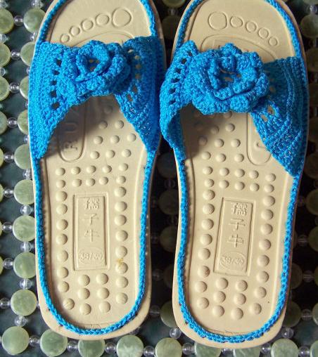 毛线拖鞋的钩法图解