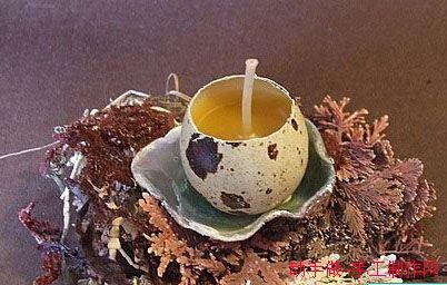 手工蛋壳蜡烛图片
