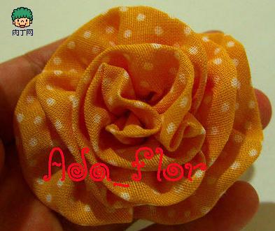 用布做玫瑰花步骤图解