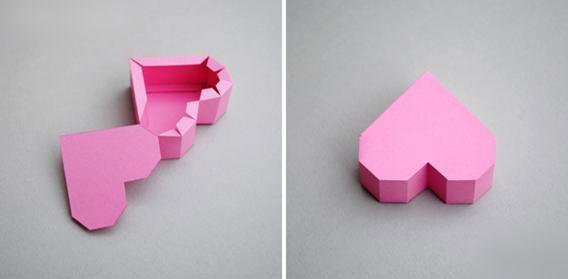 长方形折纸心形步骤图解